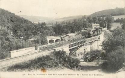 """/ CPA FRANCE 23 """"Pont de Confolens et pont de la Rozeille"""""""