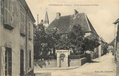 """/ CPA FRANCE 23 """"Chénérailles, école communale de filles"""""""