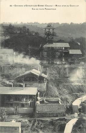 """/ CPA FRANCE 23 """"Les Mines d'Or du Chatelet, vue du puits Percepteur"""""""