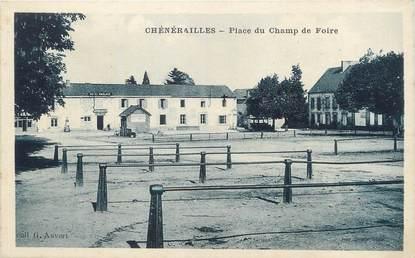 """/ CPA FRANCE 23 """"Chénérailles, place du Champ de Foire"""""""