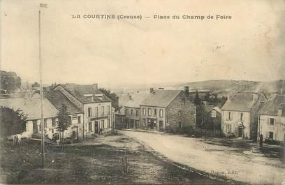 """/ CPA FRANCE 23 """"La Courtine, place du Champ de Foire"""""""