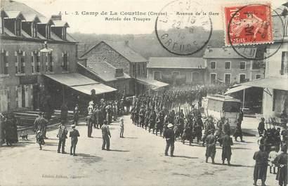 """/ CPA FRANCE 23 """"Camp de La Courtine, av de la gare"""" / MILITAIRE"""