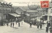 "23 Creuse / CPA FRANCE 23 ""Camp de La Courtine, av de la gare"" / MILITAIRE"