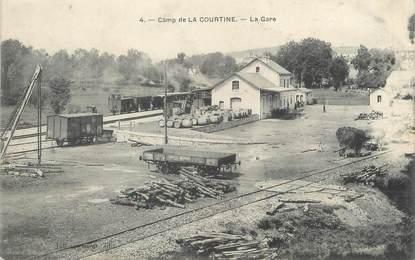 """/ CPA FRANCE 23 """"Camp de La Courtine, la gare"""""""