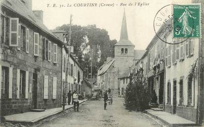"""/ CPA FRANCE 23 """"La Courtine, rue de l'église """""""
