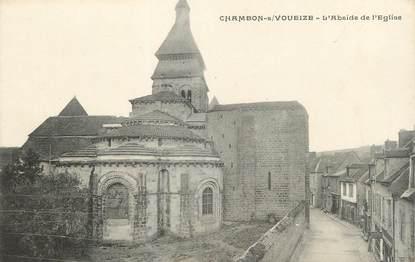 """/ CPA FRANCE 23 """"Chambon sur Voueize, l'abside de l'église"""""""
