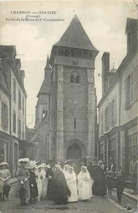 """/ CPA FRANCE 23 """"Chambon sur Voueize, sortie de la messe"""""""