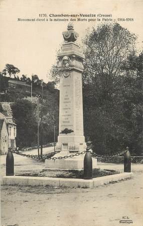 """/ CPA FRANCE 23 """"Chambon sur Voueize, monument aux morts"""""""