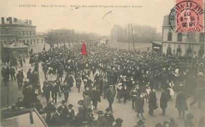 """CPA FRANCE 35 """"Fougères, place de la gare"""""""