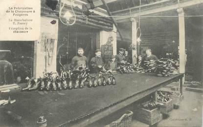 """CPA FRANCE 35 """"Fougères,  la manufacture de chaussures"""""""