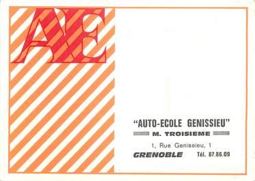 "/ CPSM FRANCE 38 ""Grenoble"" / AUTO ECOLE GENISSIEU"
