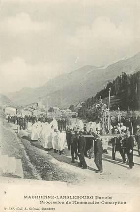 """CPA FRANCE 73 """"Maurienne Lanslebourg, Procession de l'Immaculée conception"""""""