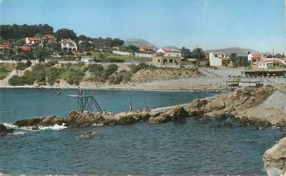 """/ CPSM FRANCE 83 """"Sanary sur Mer, la plage Port Issol"""""""