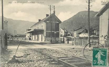 """CPA FRANCE 73 """"Saint Avre la Chambre, la Gare"""""""