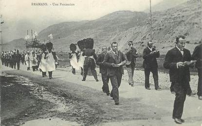 "CPA FRANCE 73 ""Bramans, une procession"""