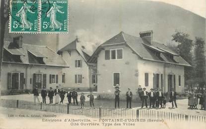 """CPA FRANCE 73 """"Env. d'Albertville, Fontaine d'Ugines"""""""
