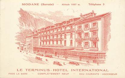 "CPA FRANCE 73 ""Modane, le Terminus Hotel"""