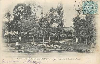 """/ CPA FRANCE 23 """"Environs d'Evaux Les Bains, l'étang de Château Bodeau"""""""