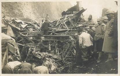 """CARTE PHOTO FRANCE 73 """"Saint Michel de Maurienne, accident de  chemin de fer, 1917"""""""