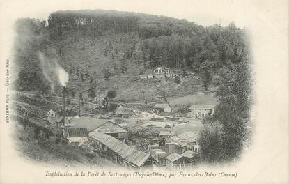 """/ CPA FRANCE 23 """"Evaux Les Bains, exploitation de la forêt de Bertranges"""""""