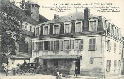 """/ CPA FRANCE 23 """"Evaux Les Bains, hôtel Laumet"""""""