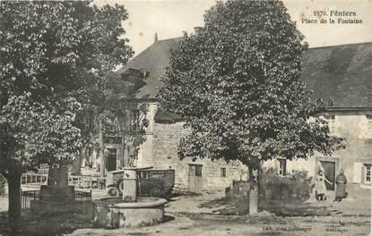 """/ CPA FRANCE 23 """"Feniers, place de la Fontaine"""""""