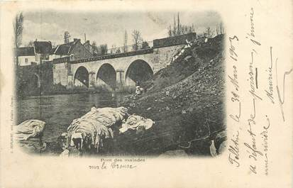 "/ CPA FRANCE 23 ""Felletin, pont des malades"" / CACHET AMBULANT"