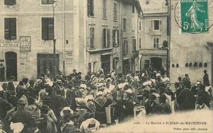 """CPA FRANCE 73 """"Saint Jean de Maurienne, le Marché"""""""