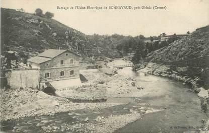 """/ CPA FRANCE 23 """"Barrage de l'usine Electrique de Bonnavaud près Glénic"""""""