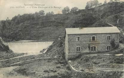 """/ CPA FRANCE 23 """"Glénic, l'usine électrique et le barrage"""""""