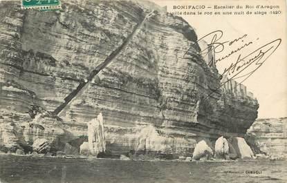 """CPA FRANCE 20 """"Corse, Bonifacio, Escalier du Roi d'Aragon"""""""