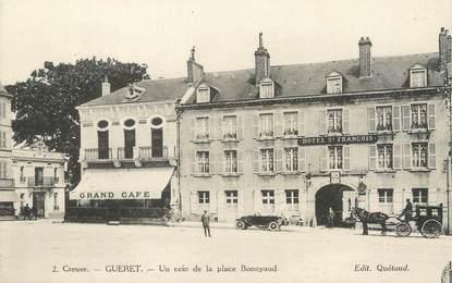 """/ CPA FRANCE 23 """"Guéret, un coin de la place Bonnyaud"""""""