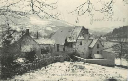 """/ CPA FRANCE 23 """"Guéret sous la neige, Champegaux"""""""