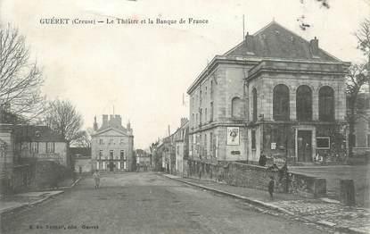 """/ CPA FRANCE 23 """"Guéret, le théâtre et la banque de France"""""""