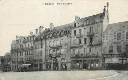 "/ CPA FRANCE 23 ""Guéret, place  Bonnyaud"""