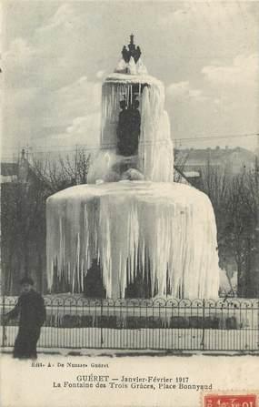 """/ CPA FRANCE 23 """"Guéret, la fontaine des trois Grâces, place Bonnyaud"""""""