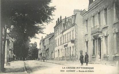 """/ CPA FRANCE 23 """"Guéret, route de Glénic"""""""