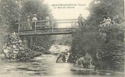 """/ CPA FRANCE 23 """"Moutier Rozeille, le pont des Chèvres"""""""