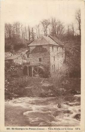 """/ CPA FRANCE 23 """"Saint Georges la Pouge, vieux moulin sur la Gosne"""""""