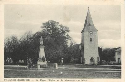 """/ CPA FRANCE 23 """"Saint Dizier Leyrenne, la place, l'église  et le monument aux morts"""""""