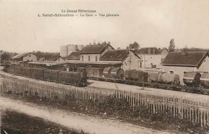 """/ CPA FRANCE 23 """"Saint Sébastien, la gare, vue générale"""""""