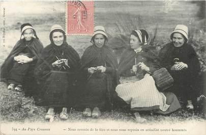 """/ CPA FRANCE 23 """"Au pays Creusois"""" / GROUPE DE FEMMES / FOLKLORE"""