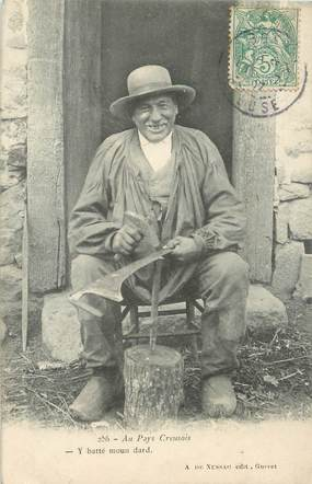 """/ CPA FRANCE 23 """"Type Creusois"""" / FOLKLORE / VIEIL HOMME"""