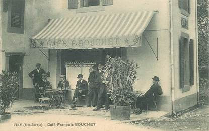 "CPA FRANCE 74 ""Viry, Café François Bouchet"""