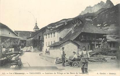 """CPA FRANCE 74 """"Talloires, intérieur du village et les dents de Lanfont"""""""