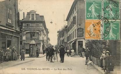 """CPA FRANCE   74 """"Thonon les Bains, la rue des Arts"""""""