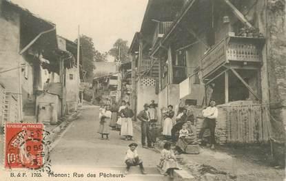 """CPA FRANCE   74 """"Thonon les Bains, rue des Pêcheurs"""""""
