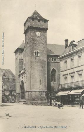 """/ CPA FRANCE 24 """"Beaumont, église fortifiée"""""""