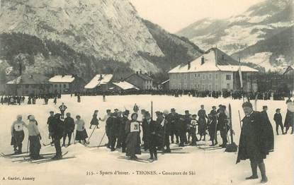"CPA FRANCE   74 ""Thones, concours de ski"""