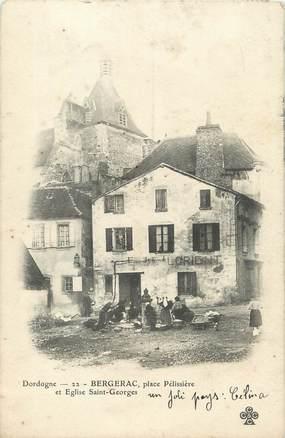 """/ CPA FRANCE 24 """"Bergerac, place Pélissière"""""""